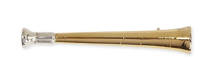Shires Gold Hunting Horn Stock Pin